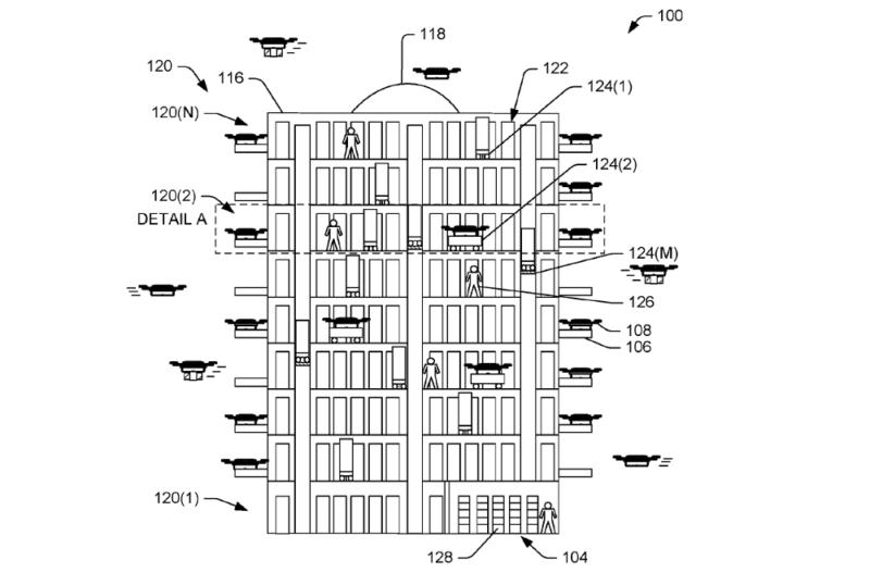 亞馬遜(Amazon)無人機專用多層出貨中心專利設計(2b)