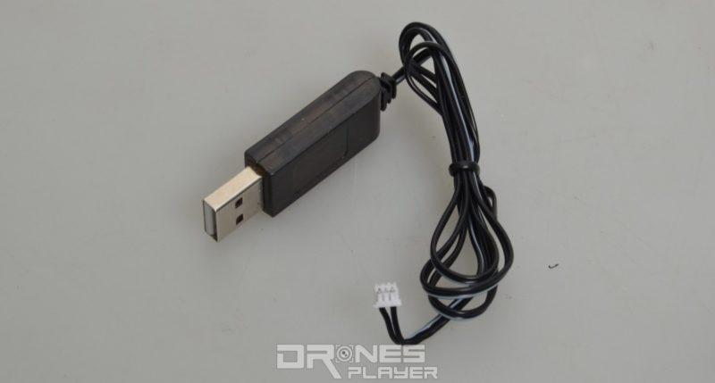 DHD D2 航拍機附帶專用 USB 充電線。