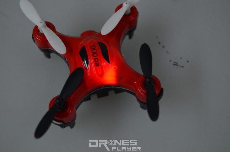 DHD D2 航拍機的機頂在拍照或拍片時,均會亮起紅色燈號。
