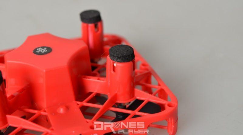 DHD D3 無人機四支起降腳架的末端設有吸震膠墊。