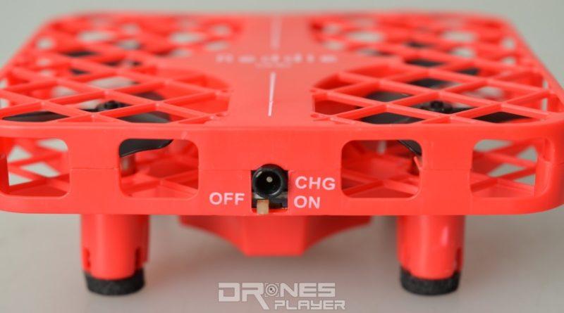 DHD D3 無人機機尾設有獨立開關鍵及充電接口。