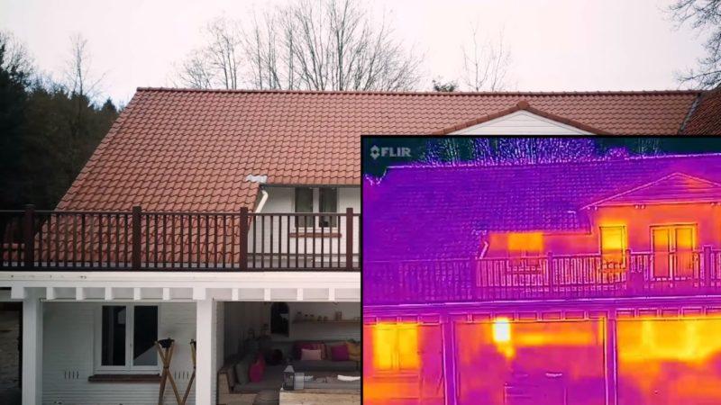 利用 Mavic Pro 拍攝建築物的熱感影像效果。(圖片來源:YouTube 影片截圖)
