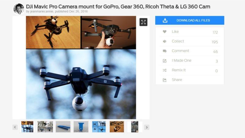 Cannie 在 Thingiverse 網站公開舊版承架的設計資料,讓網民用 3D 印表機自行列印。(圖片來源:翻攝自 Thingiverse.com)