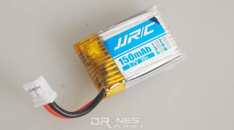 JJRC H36 穿越機使用 3.7V / 150mAh 可換式電池。
