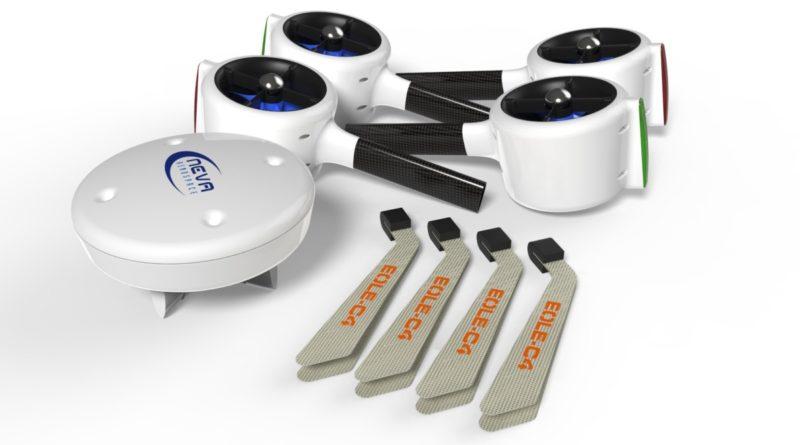 Neva Eole 無人機採模組式設計,無論機體、機臂、渦輪推進器均能獨立分拆出來,以便收藏和攜帶。