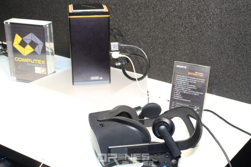 Gigabyte 亦展出了最新的 GB-BNi7HG6-1060 迷你型桌面電腦,機身體積僅 2.6L,支援 VR 影像輸出,配備 GeForce GTX 1060 顯示卡。