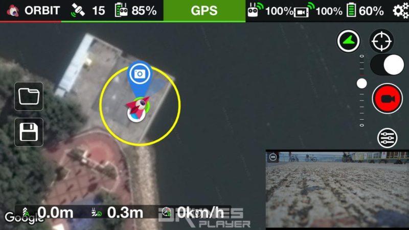 飛友置入興趣點後,LitChi 畫面上便會立即出現圓形飛行航道。