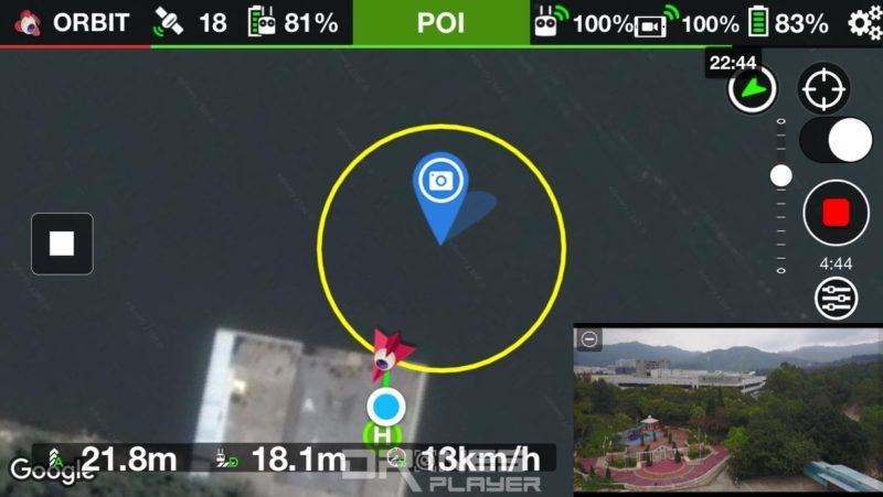 LitChi 環繞飛行模式(ORBIT)下的規劃航道。