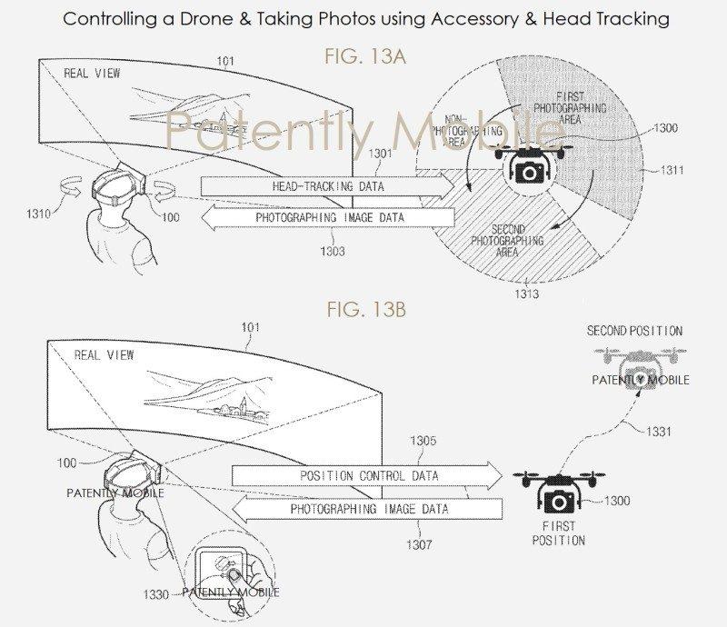 穿戴著 Gear VR 的用戶可藉著頭部動作來控制無人機移動,操作方式跟 DJI Goggles 飛行眼鏡非常相似。