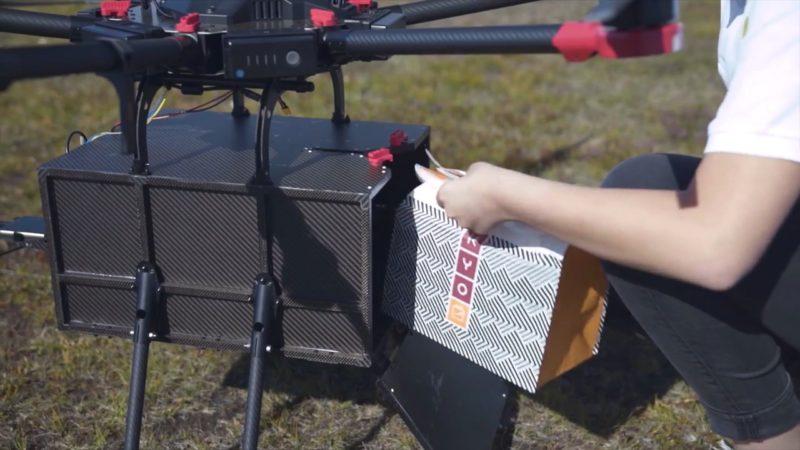 Flytrex Mule 送貨無人機貨艙