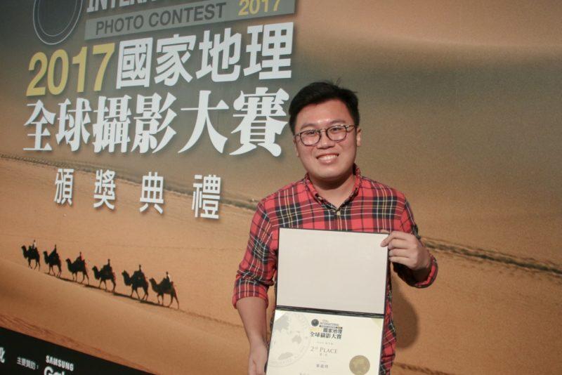 Ken 今年 7 月才購入航拍機,新手上場陣就獲得肯定,昨在台灣領獎。