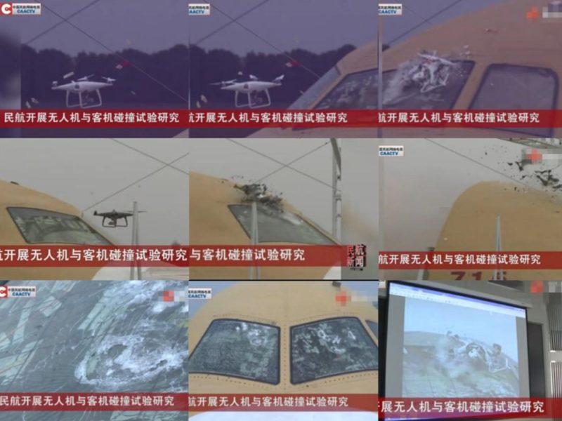 測試用了國產客機的機頭結構,以及 DJI  提供的真實無人機,以研究兩者碰撞的安全風險。