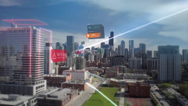 系統會自動提醒無人機駛離禁飛區。