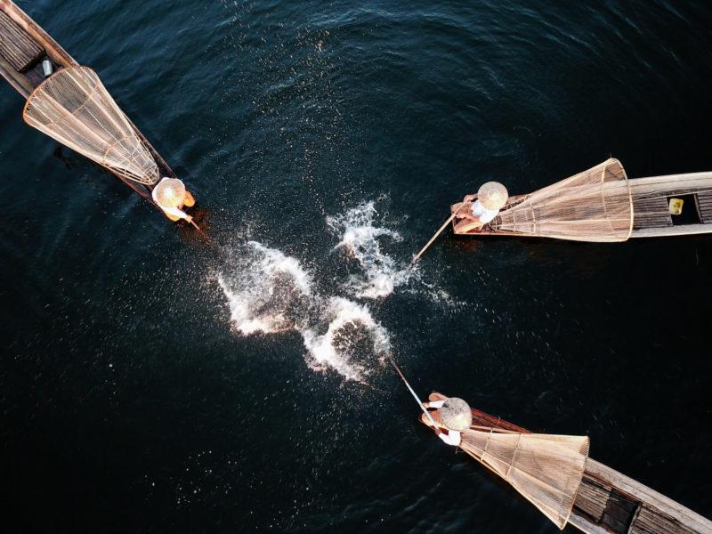 茵莱河捕鱼表演|水庆华攝|@ 緬甸茵萊河