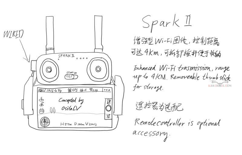 Spark 第二代保持 WI-FI 圖傳,但有所增強。
