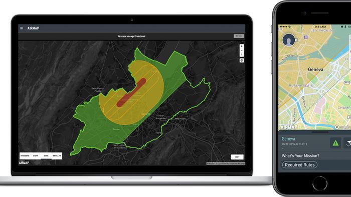 政府可透過 Swiss U-Space 系統的地理圍欄(Geofencing)技術,隨時根據實際情況劃分或更改飛行範圍。