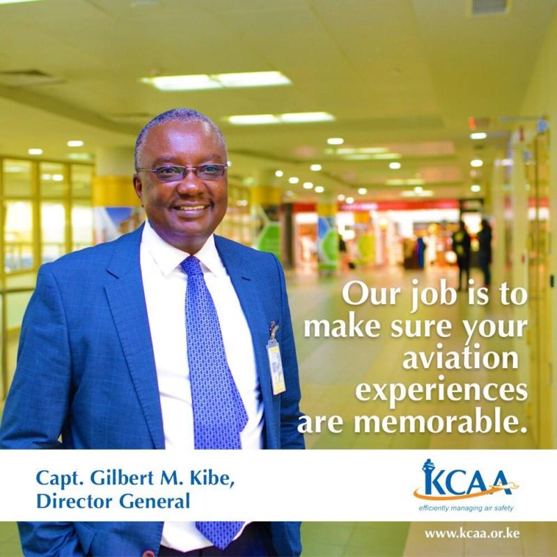 圖為肯尼亞民航局局長 Gilbert Kibe。