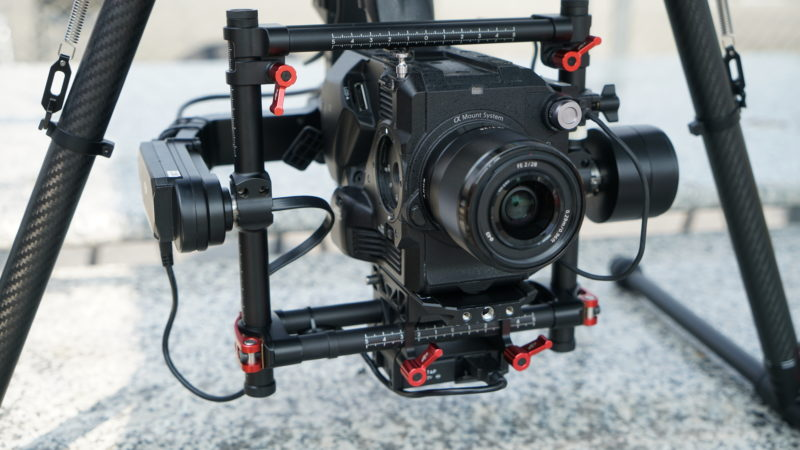 是日 M600 Pro 負重超過 5 公斤。