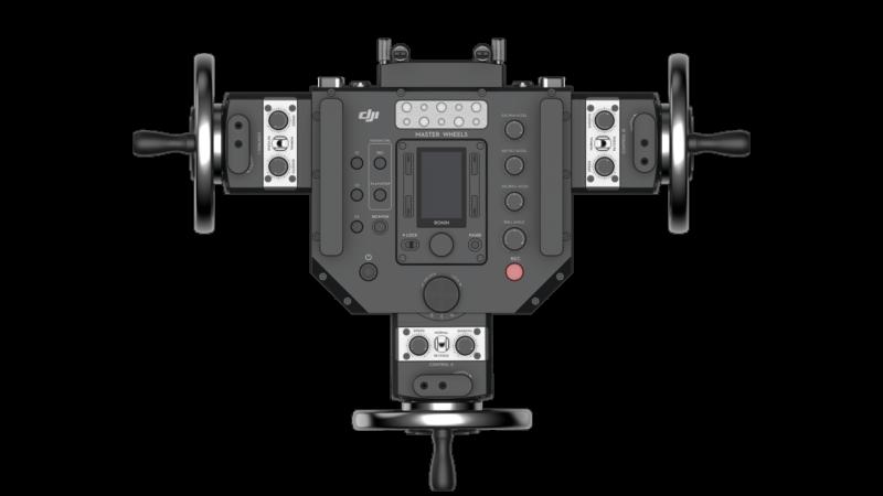 搖輪控制模組配備三段式雲台方向控制開關,以及速度、平滑度及阻尼(減震)調節旋鈕,讓使用更為便捷。