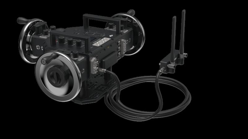 Master Wheels操作輪及控制模組可快速拆裝,搖輪控制模組拆卸後可通過線纜連接主控制台,無線射頻模組也可快速拆卸、置於無訊號遮擋處,以獲得更好的訊號強度。