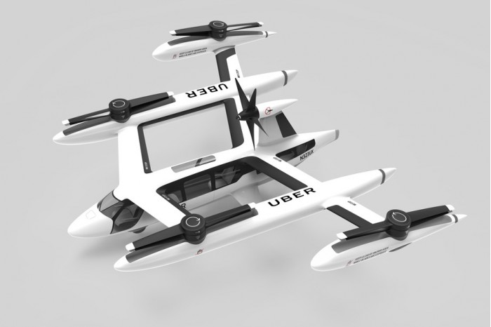 Uber 聲稱四旋翼空中計程車比直昇機安全及穩定。