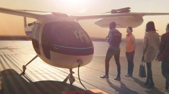 Uber 空中計程車概念原型機已展出。