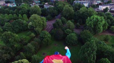 superman drone video
