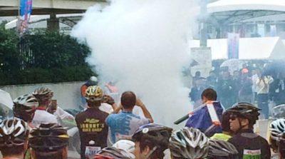日本一部航拍機在拍攝單車賽期間焚燬墮落