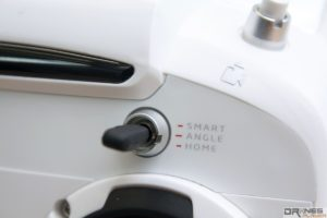 Yuneec Typhoon Q500+ Smart、Angle、Home 分別代表無頭、標準手動、返航模式。