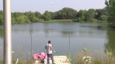 Derek Klingenberg 用無人機釣魚