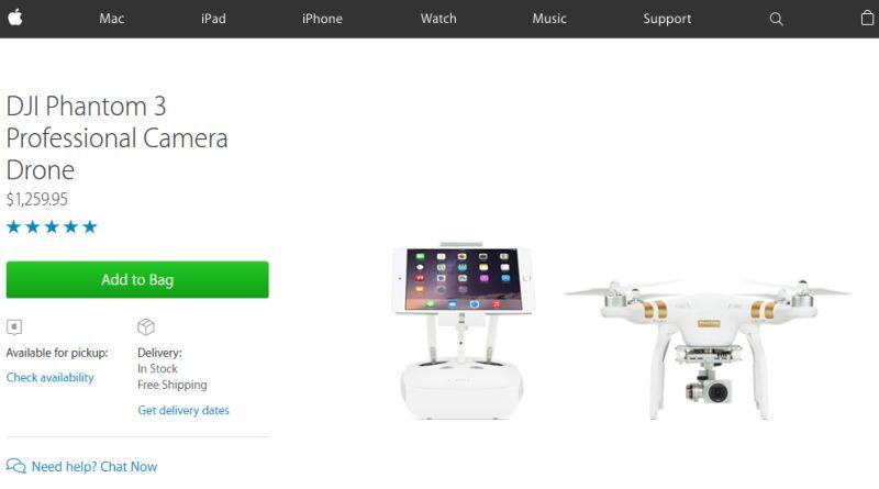 Apple Online Store 上的 DJI Phantom 3 Professional