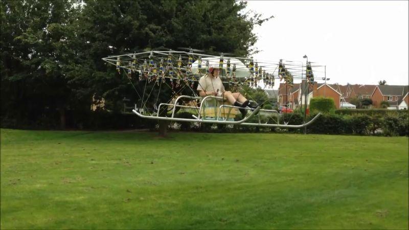 連人帶機起飛了!