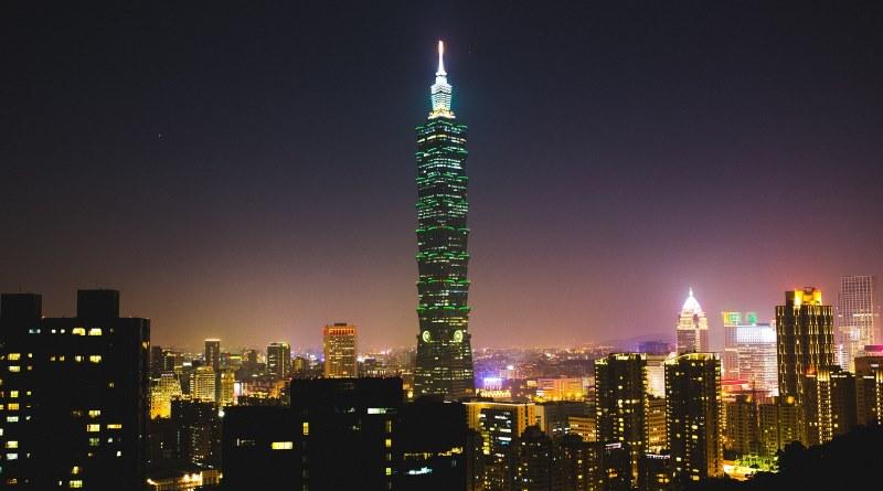 晚間的台北 101