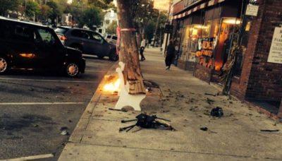 紐約攝影師的航拍機失事變火球墜落