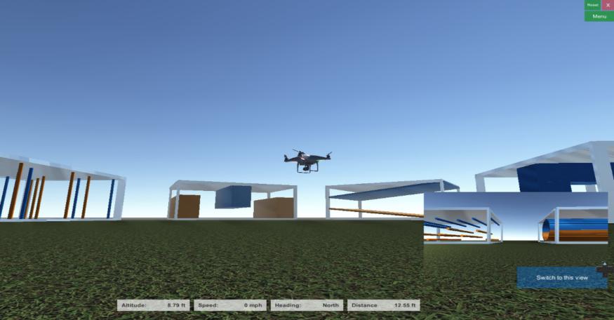 障礙航道:由於「飛手」無法移動,只能用 FPV 模式玩,結果難度甚低