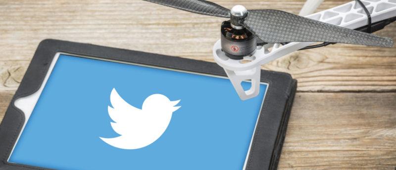 Twitter 自拍無人機
