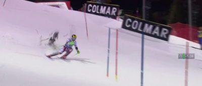 航拍機險撞滑雪選手 Hirscher Slalom