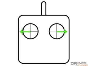 橫飛擺鏡拍攝法遙控操作示意圖