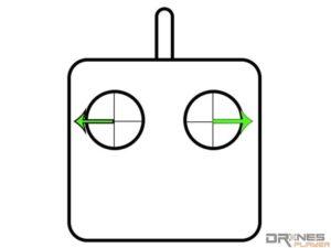 環繞拍攝運鏡法遙控示意操作圖