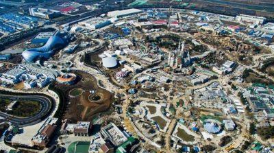 上海迪士尼樂園空拍圖