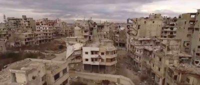 空拍機記錄敍利亞戰爭禍害