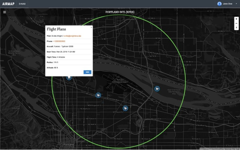 AirMap D-NAS 地圖