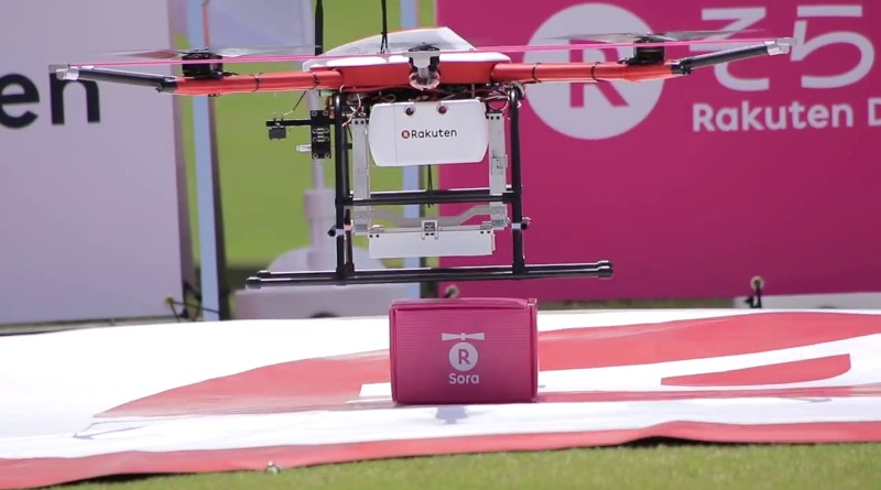 樂天推出 Sora Raku 無人機送貨服務