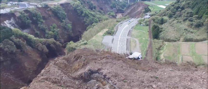 日本 熊本 地震 空拍