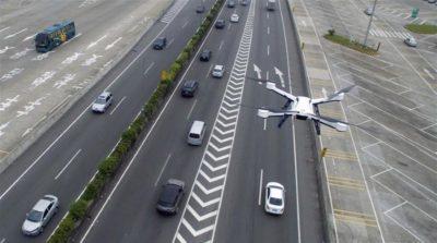 廣州交通警巡邏無人機