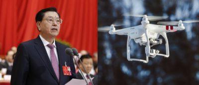 張德江訪問香港,警方打擊無人機示威