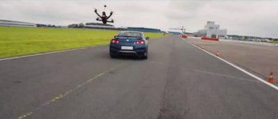 日產 GT-R 超級跑車對 GT-R Drone 無人機