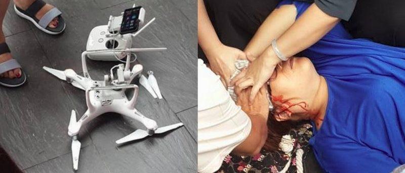 DJI Phantom 4 台灣日月潭失控墜落 婦遭砸傷頭幸無礙