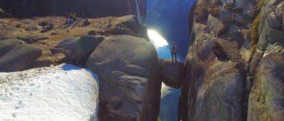 挪威 奇蹟石 航拍