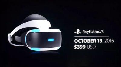 PlayStation VR 眼鏡 10 月 13 日開售